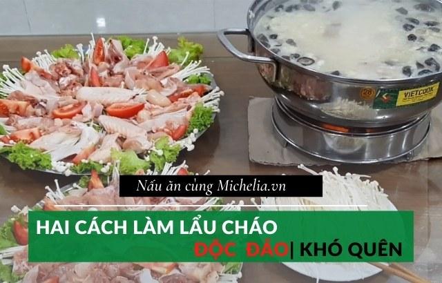 Cách nấu lẩu cháo hải sản
