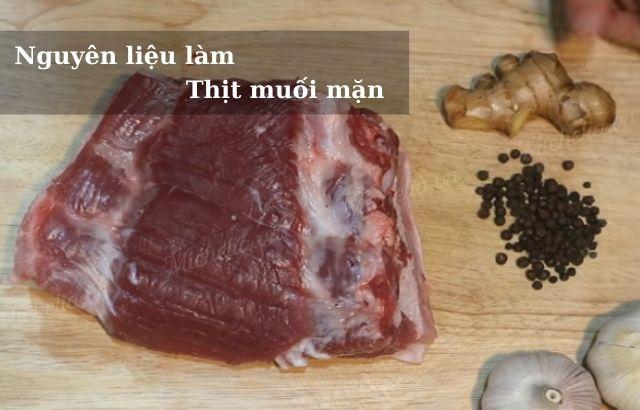 Cách làm thịt lợn muối măn