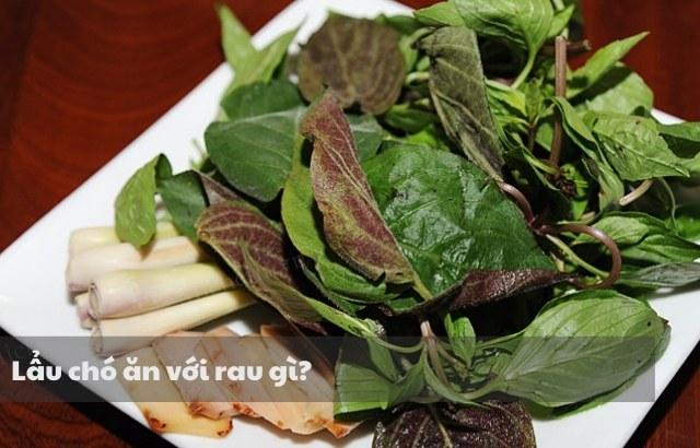 Lẩu chó ăn kèm với rau gì?