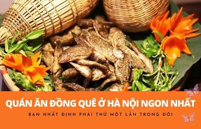Các quán ăn đồng quê ở Hà Nội