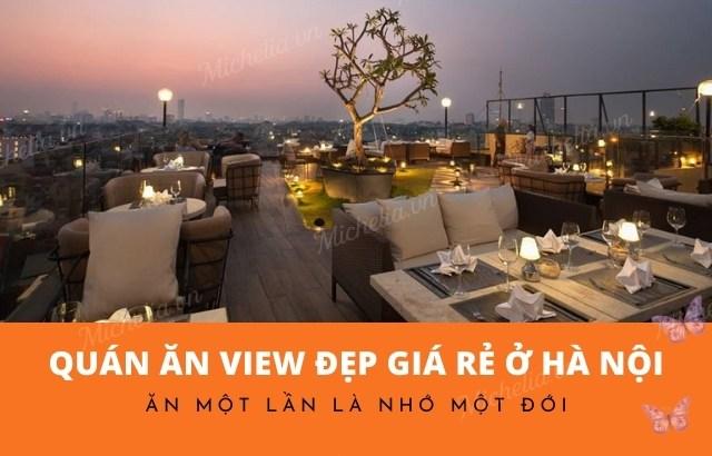 quán ăn view đẹp giá rẻ ở hà nội