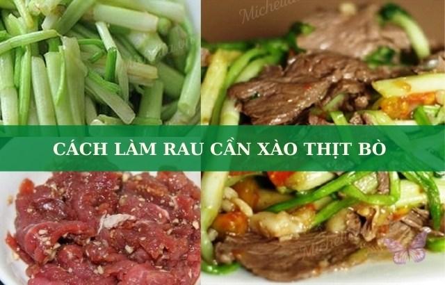 xào thịt bò với rau cần tây