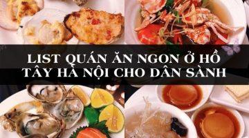 ăn gì ở hồ tây hà nội