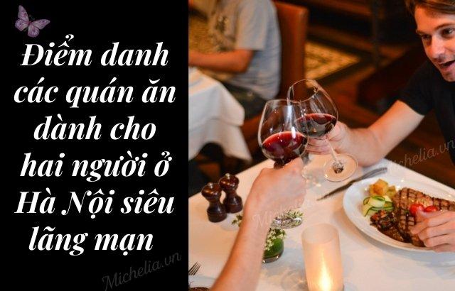 nhà hàng dành cho 2 người ở Hà Nội
