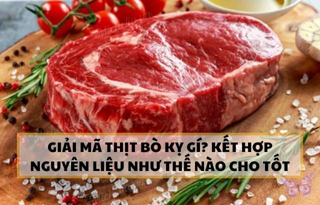 thịt bò kỵ rau gì