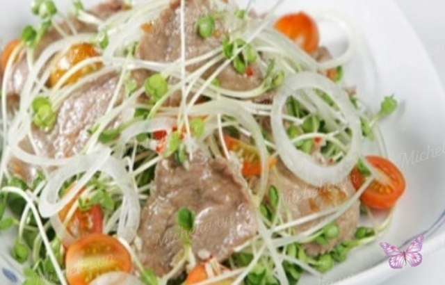 Bí quyết thịt bò xào cải mầm