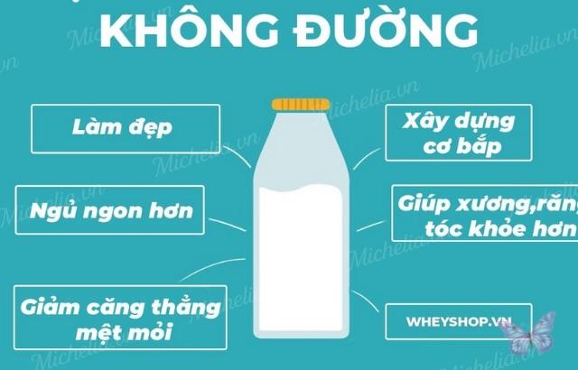 uống sữa không đường có béo không