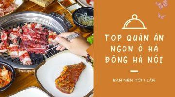 uán ăn ngon ở Hà Đông Hà Nội